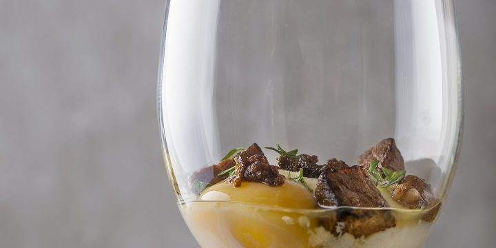 Make This: Sous Vide Egg with Beef Fat and Ribeye Cap Confit