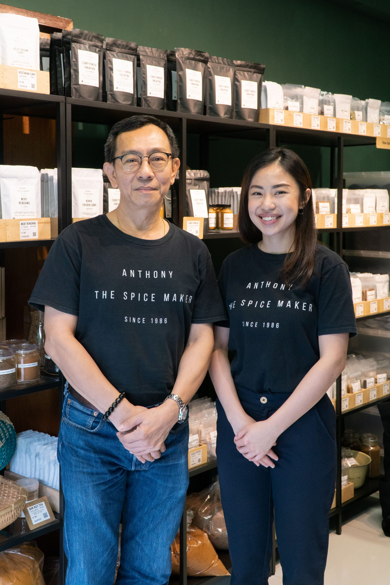 Spice maker Anthony Leow and his daughter, Min Ling