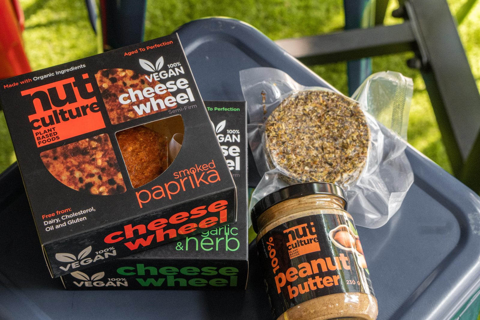 Nut Culture's Smoked Paprika 'Cheese' and Garlic and Herb 'Cheese'