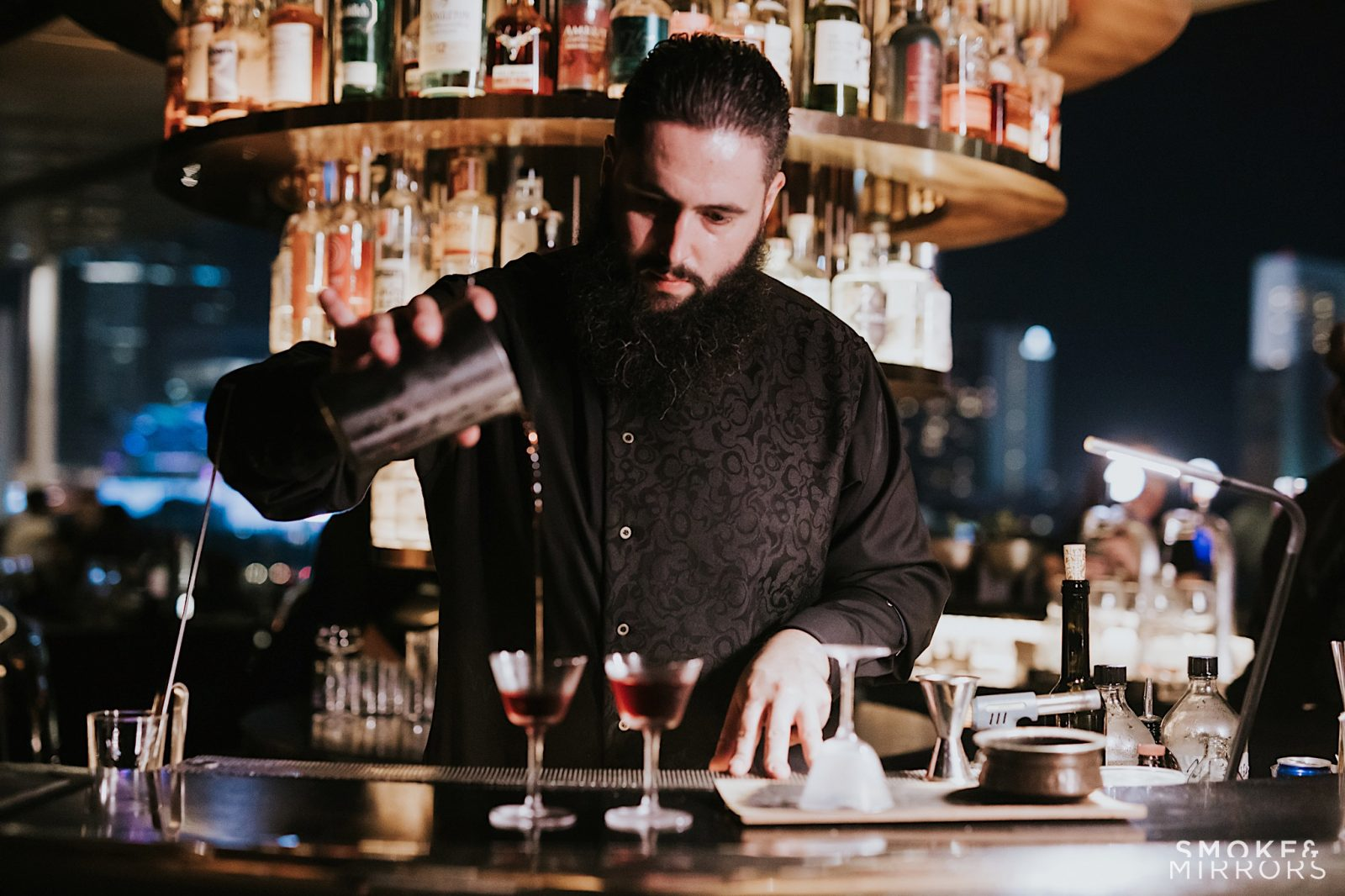 Head Bartender of Smoke & Mirrors, Jorge A. Conde