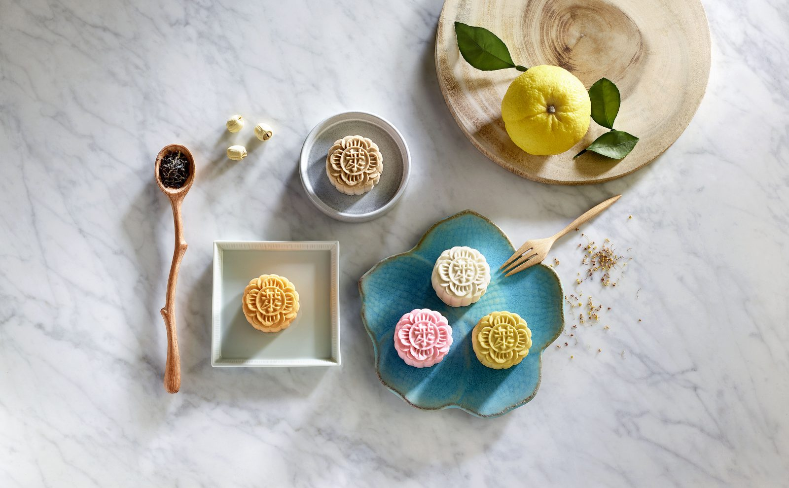 The delectable snowskin mooncake selection by Raffles Hotel